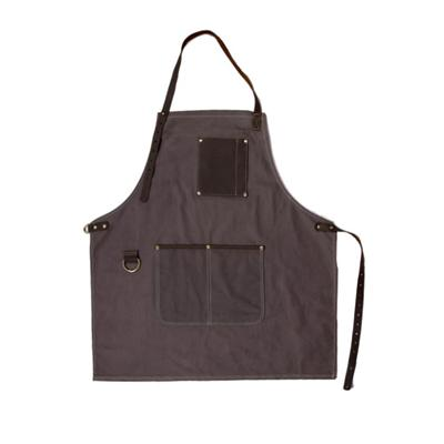 Well Crafted Waxed Canvas Carpenter Aprons With Leather Trim For Adults