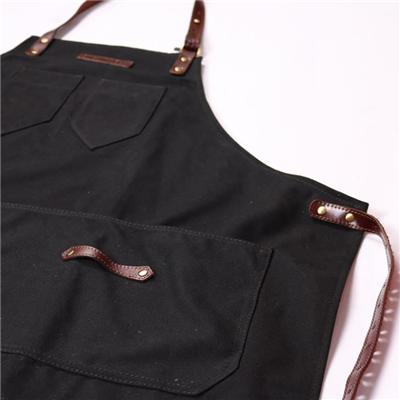 Hand Crafted Bib Waxed Canvas Mens Work Aprons With Pockets