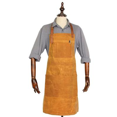 Vintage Style Waxed Canvas Brown Butchers Apron
