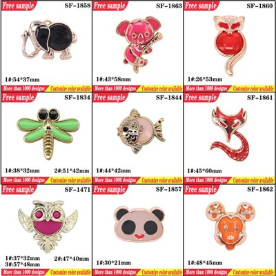 Unique Animal Design Slippers Parts Shoes Decorative Buckle Accessories Cute Design Woman Shoes Flower Clips Ornament
