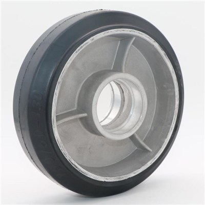 Aluminum Core Black Rubber Pallet Truck Wheel 180*50mm