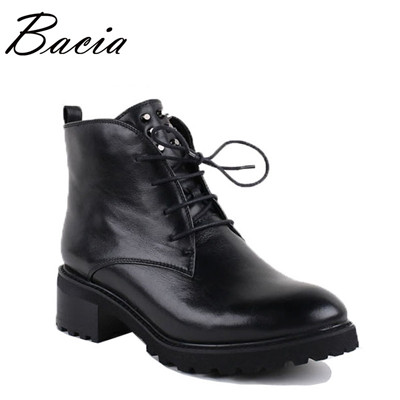 Women Ankle Boots Genuine leather Zipper Rivet Short Boots