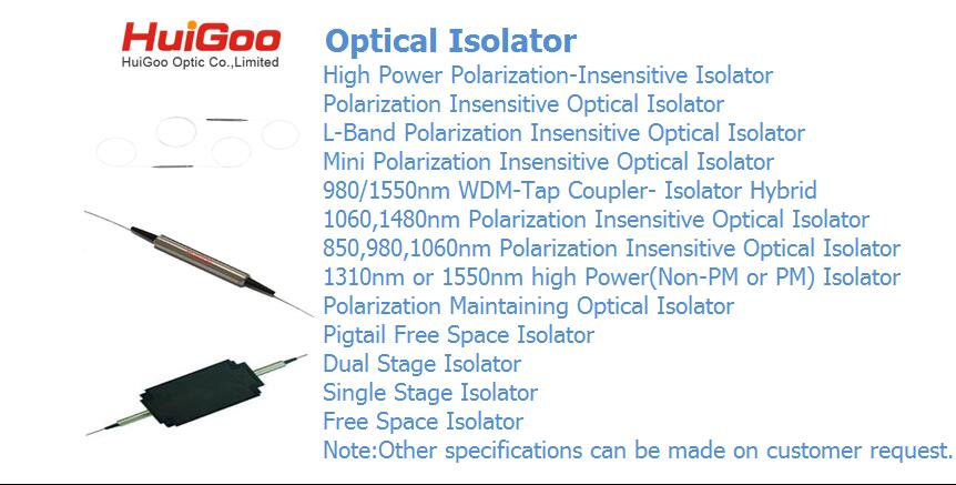Dual stage isolator 1550nm P grade 900um 1.0m