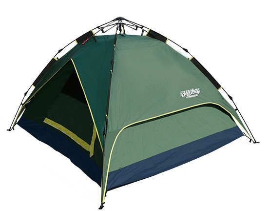 hydraulic aluminium quick camping tent with aluminum coating
