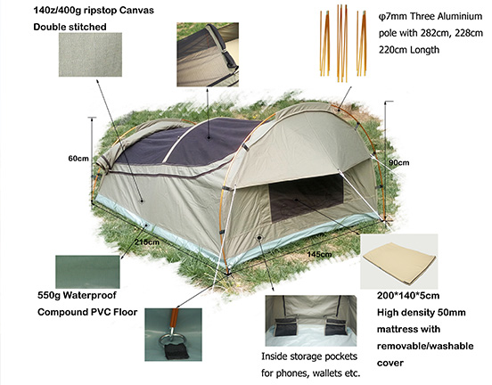 Double Swag Tent CAST01-2