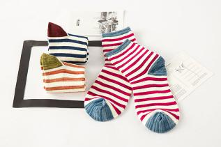Autumn/winter Striped and classic cartoon Cotton socks