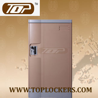 Triple Tier Knocked-down ABS Lockers, Coffee Color