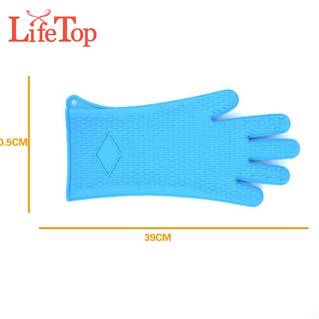 Hot selling Premium Food grade heat resistant silicone BBQ gloves
