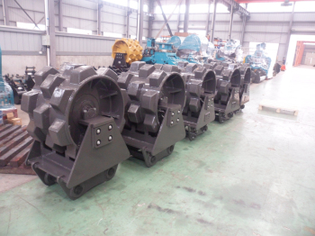excavator compaction wheel for slope and trench