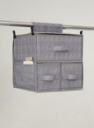 2 shelf  Printing accessory bag and hanging garment  organizer/closet with 3 drawers