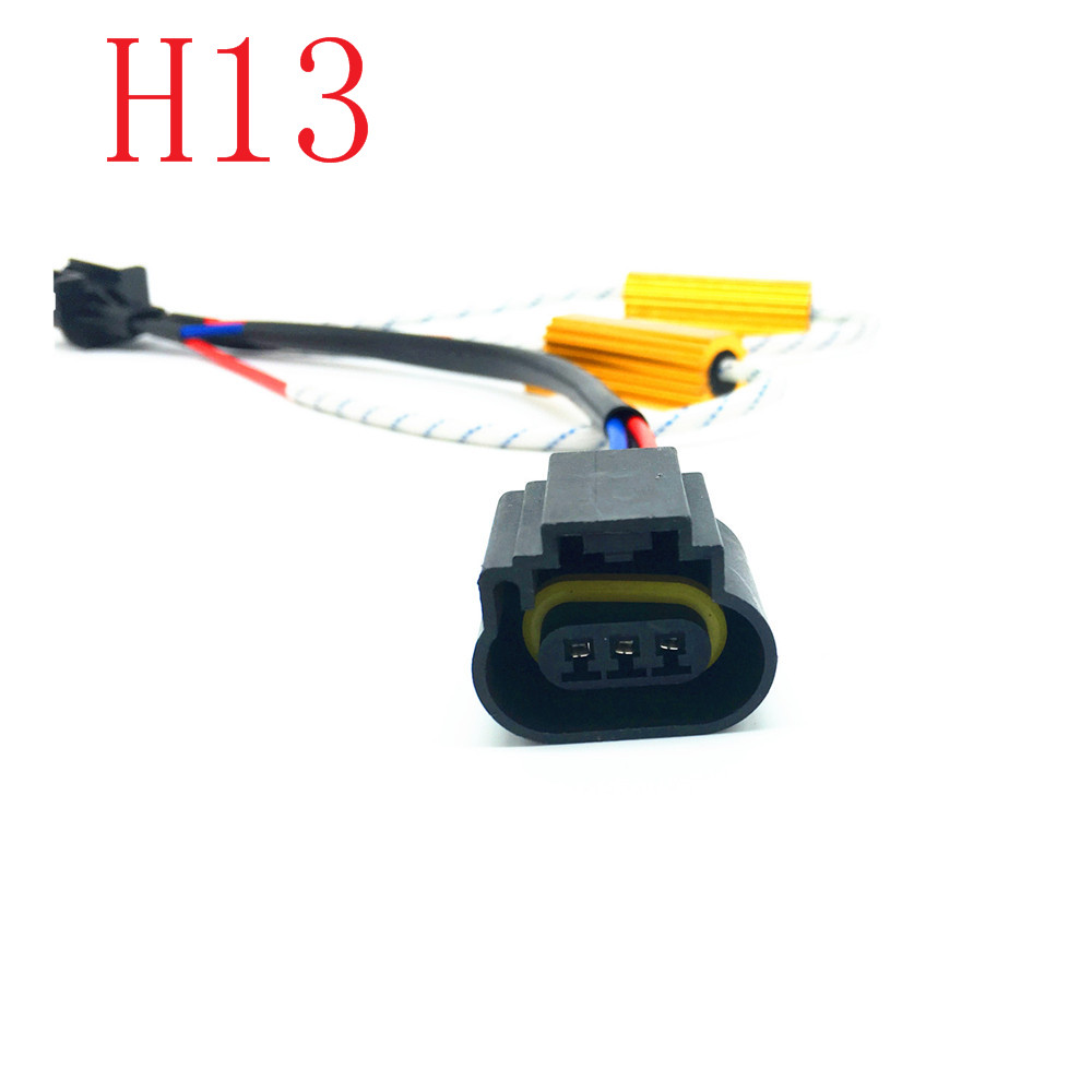 High Quality Car Fog Light 9005 9006 HB3 HB4 H7 H8 H11 H4 H13 LED Decoder Harness Single Resistance Decode Line 50W 6ohm
