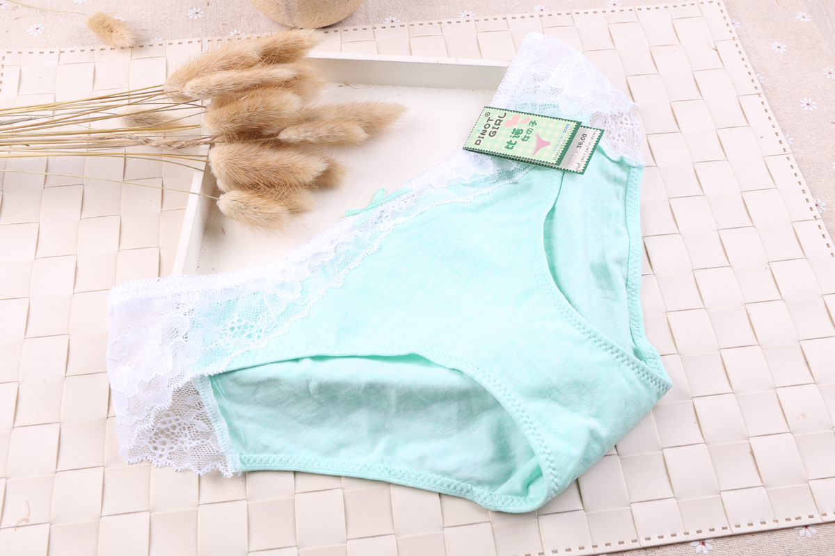 Hot Selling sexy polyester briefs cute super soft lingerie panties cotton underwear