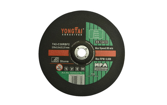 9 Inches, 230x3.0x22.23mm, T42 Depressed Center Cut-off  Wheels for Masonry, Black Color, EN12413