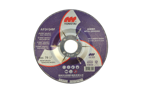 5 Inches, 125x6x22.3mm, T27 Sharp and Durable Depressed Center Grinding Wheels for Metal, Black Color, EN12413
