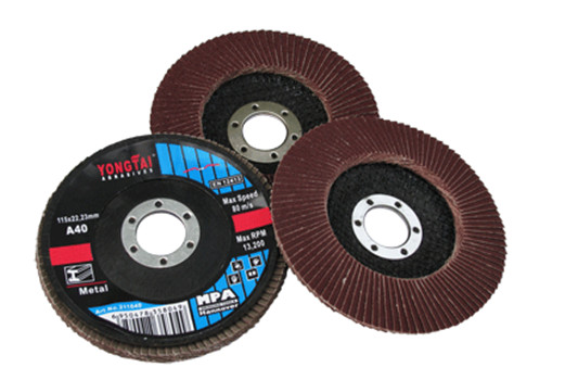 Yongtai 4 Inches, 100x16mm,  Stable Performance Flap Disc for Masonry polishing, Red Color, EN12413, MPA