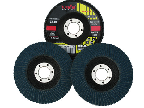 Yongtai 4 Inches, 100x16mm, Effective Flap Disc for Stainless Steel and Metal, Black Color, EN12413
