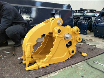 excavator rotating hydraulic rock grab bucket