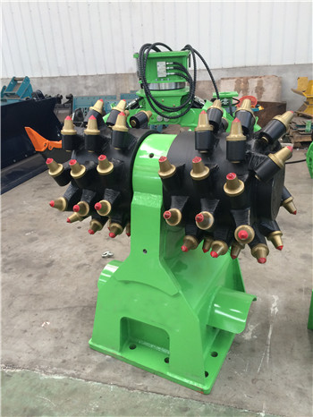 excavator hydraulic drum cutter for hard stone