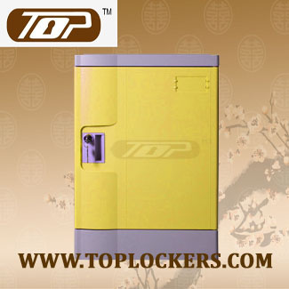 Four Tier Recyclable Lockers ABS Plastic, Yellow Color