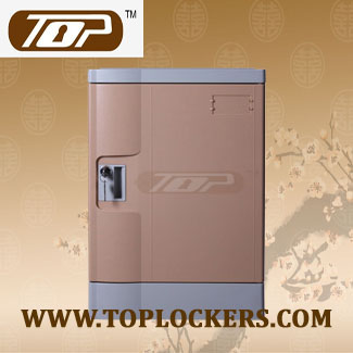 Four Tier Eco-friendly Plastic Lockers, Coffee Color