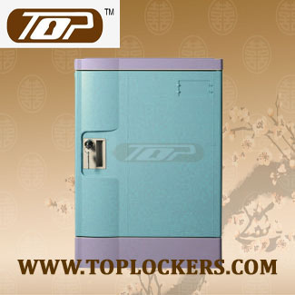 Four Tier Office Lockers ABS Plastic, Blue Color