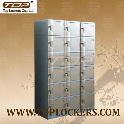 Six Tier Plastic Cabinets, Coffee Color