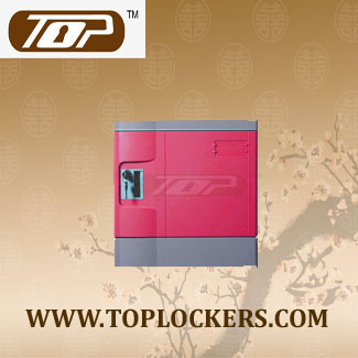 Six Tier School Lockers ABS Plastic, Pink Color