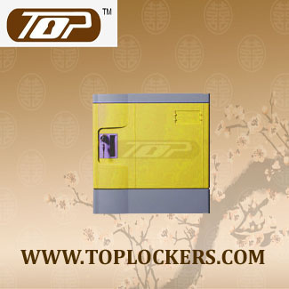 Six Tier Recyclable Lockers ABS Plastic, Yellow Color