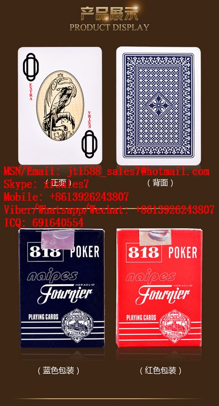 XF Fournier No.818 Paper Playing Cards Marked Invisible Ink Poker Cheat / Cards Cheat / Contact Lenses / Invisible Ink / Marked Playing Cards / Cards Playing Cards / Playing Cards China / Marked Cards