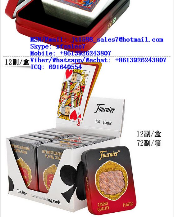 XF Plastic Fournier S210 Playing Cards With Invisible Ink Markings For Poker Cheating Filter Cameras