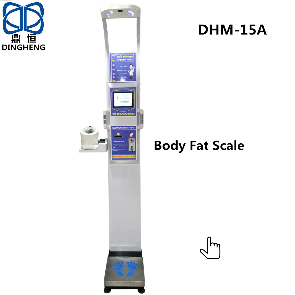 ultrasonic body height weight fat scale machine industry weight scale indicator big screen display with weighing indicator