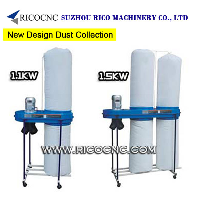 Portable 1.1KW 1.5KW Woodworking Industrial Dust Extractors Machinery for Woodworkers Dust Collection