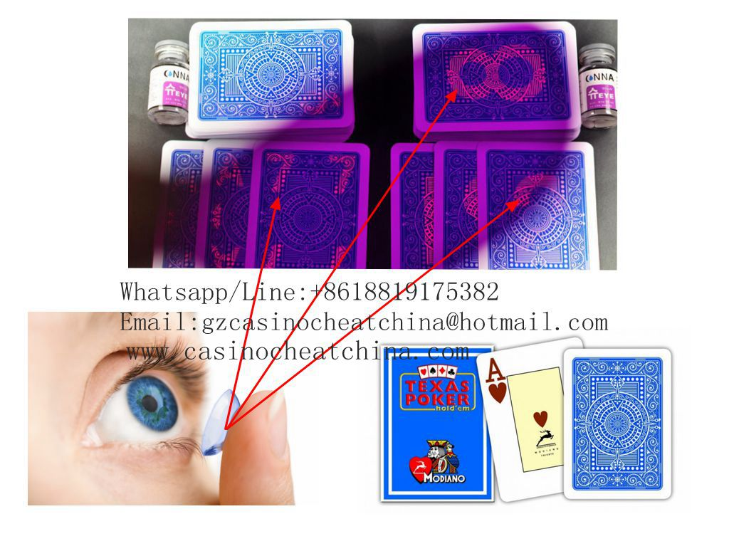 Blue Modiano Texas Hold'em plastic marked playing cards for poker cheat/uv contact lenses/invisible ink/perspective glasses/magic trick