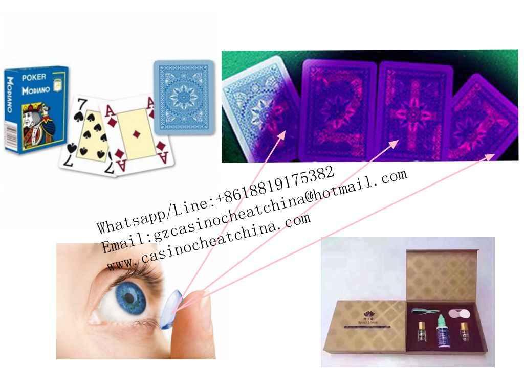 Blue Modiano cristallo plastic marked cards for poker game cheat/invisible ink/contact lenses/omaha texas poker cheat