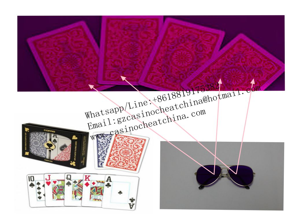 Copag 1546 red plastic marked cards for uv perspective sunglasses/invisible ink/cards cheat/contact lenses/casino cheat