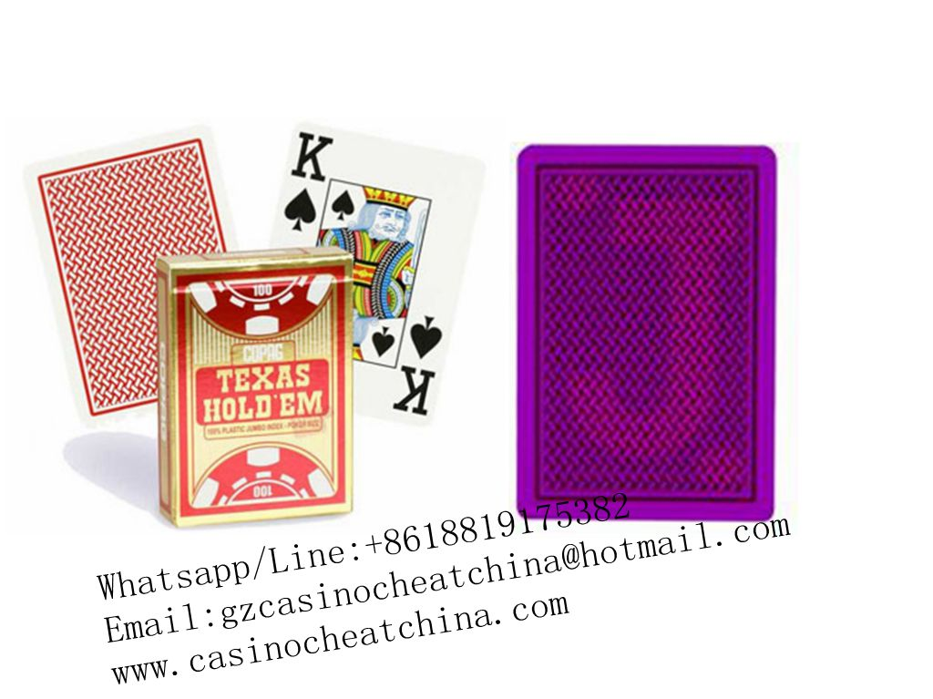 Red Copag Texas Hold'em plastic marked cards for poker game cheat/omaha texas poker cheating device/invisible ink/cheat in casino/contact lenses
