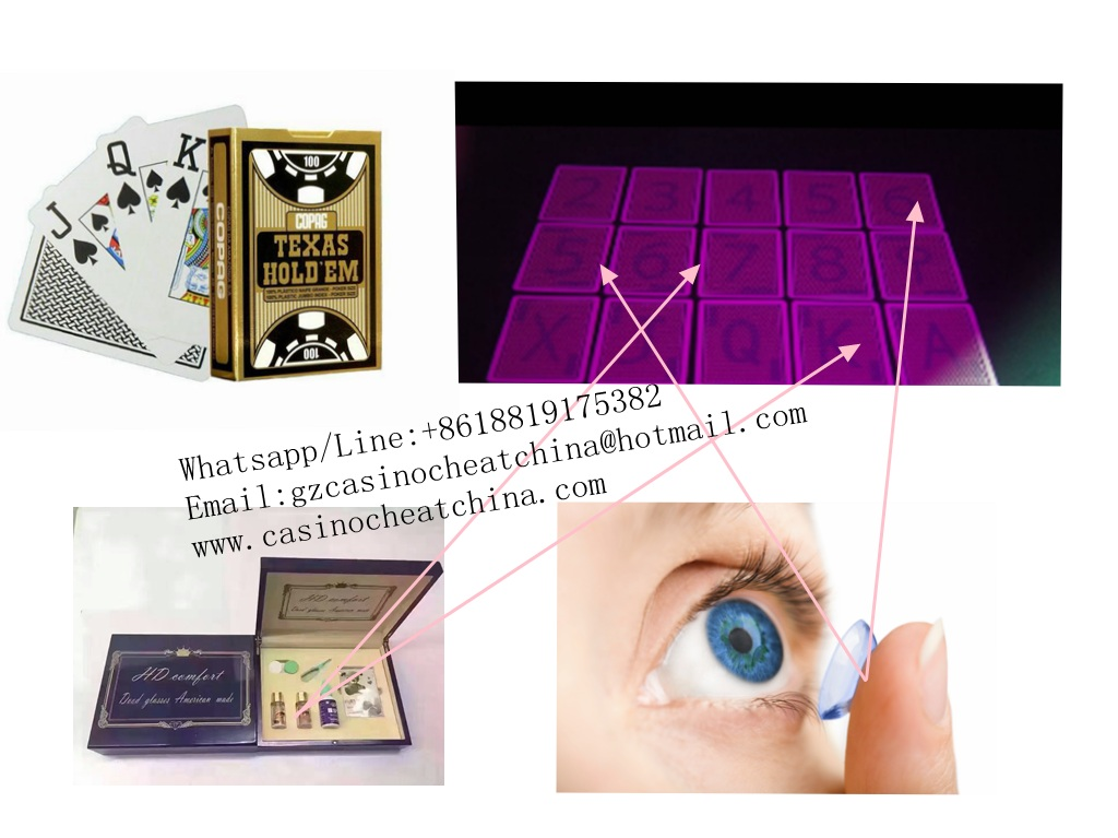 Black Copag Texas Hold'em plastic marked playing cards for uv perspective sunglasses/cheat in casino/invisible ink/omaha texas poker cheat game