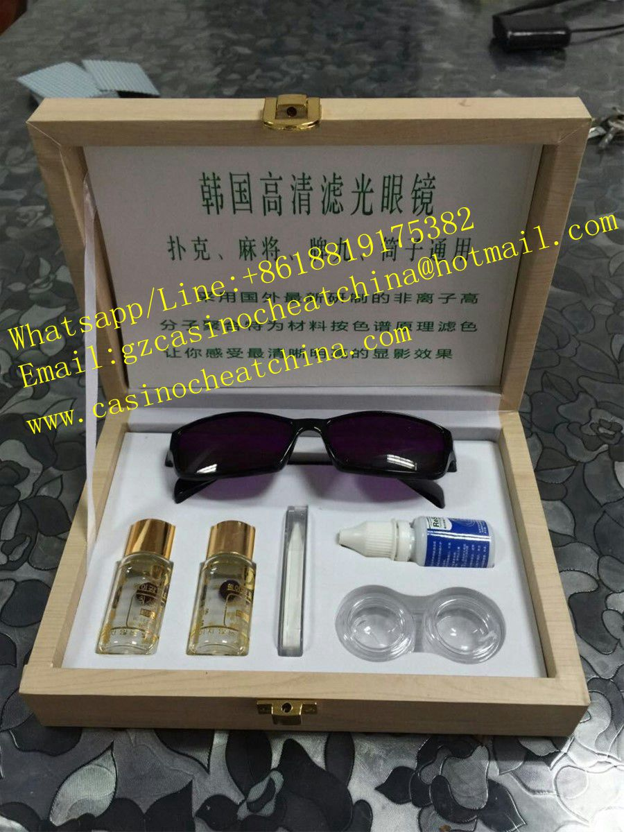 2017 Best quality UV contact lenses for poker cheating device/invisible ink/cheat in casino/luminous marked cards/perspective glasses