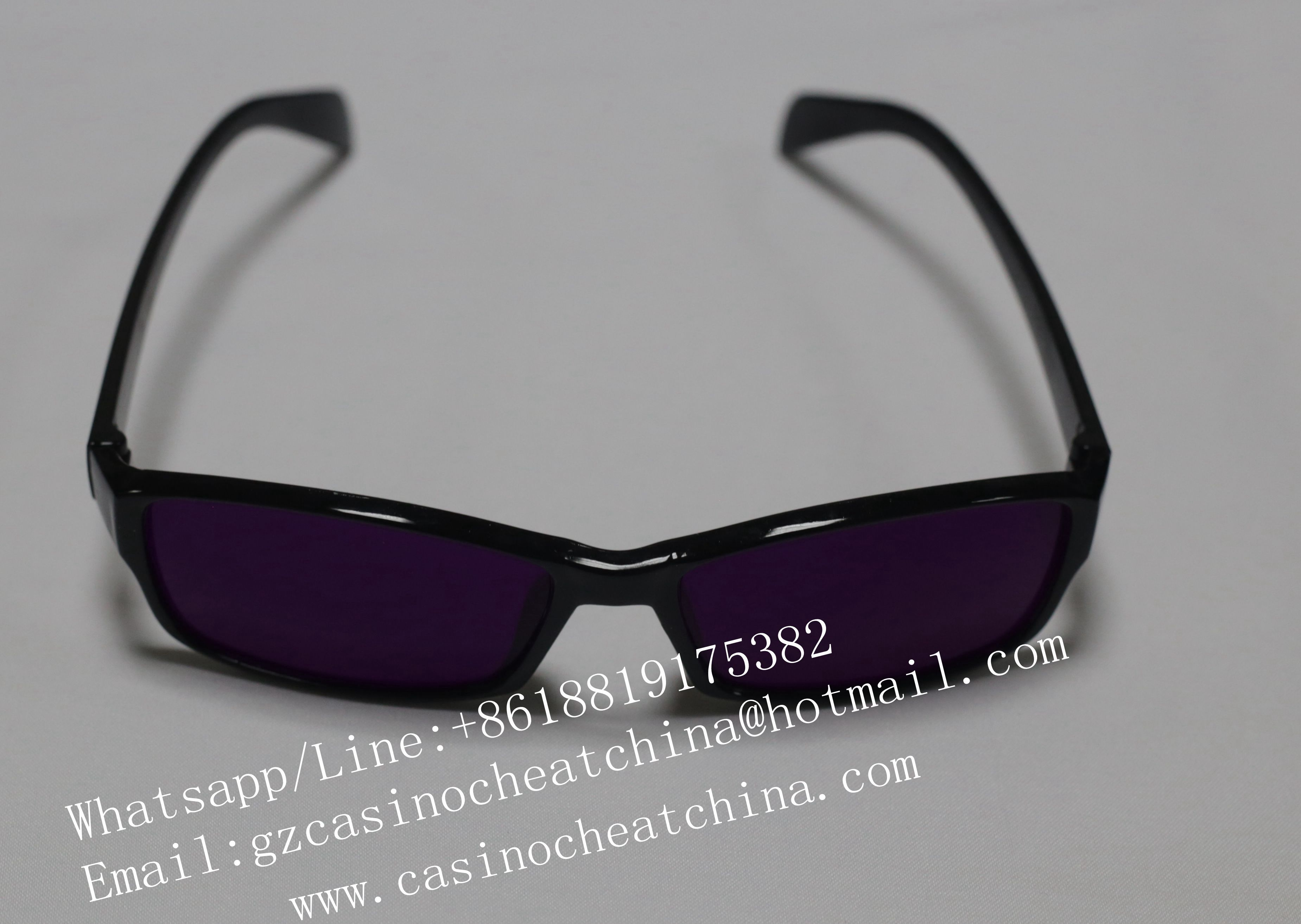 2017 Newest UV perspective glasses for gambling cheat /luminous marked cards/invisible ink/contact lenses/luminous marked cards