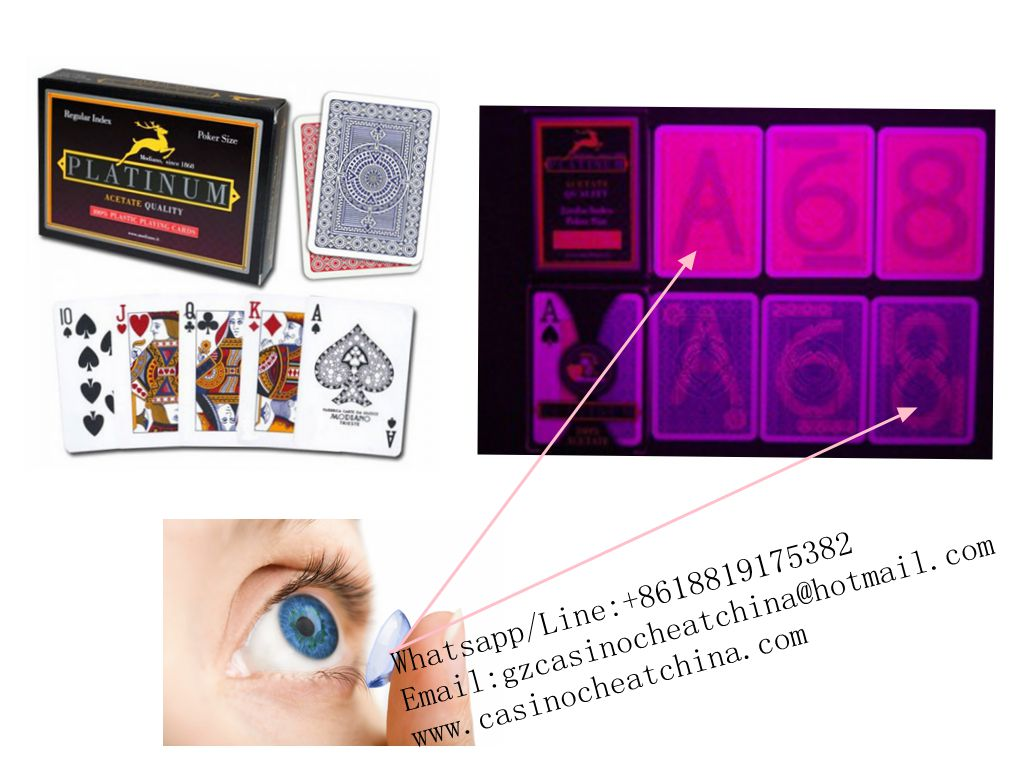 Modiano platinum red plastic luminous marked cards for poker game cheat/invisible ink/contact lenses/perspective glasses