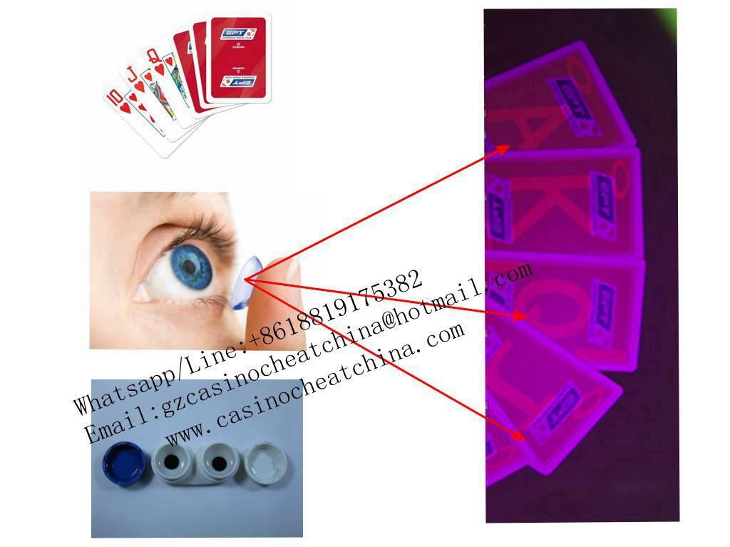 Copag EPT red plastic luminous marked cards for game cheat/invisible ink/contact lenses/cheat in gamble/poker trick/casino cheat