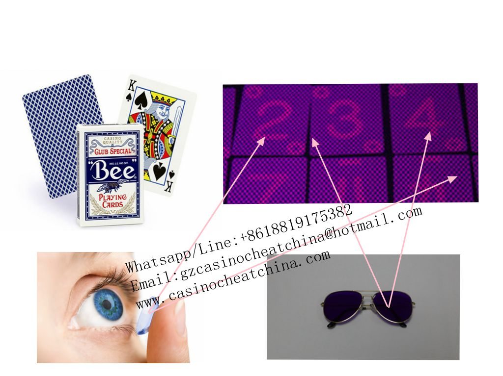 Blue Bee club special paper luminous marked cards for poker cheating device/uv contact lenses/invisible ink/cheat in gamble/casino cheat/magic poker
