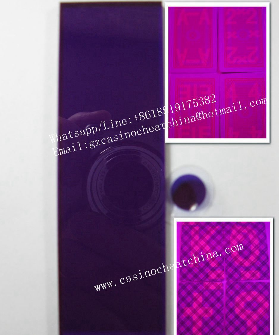 cb9f11f770d8 ... Blue Bee club special paper luminous marked cards for poker cheating  device uv contact lenses ...