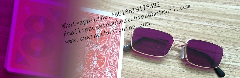 Bicycle red plastic luminous marked cards for cards cheat/omaha texas poker cheating device/invisible ink/perspective glasses