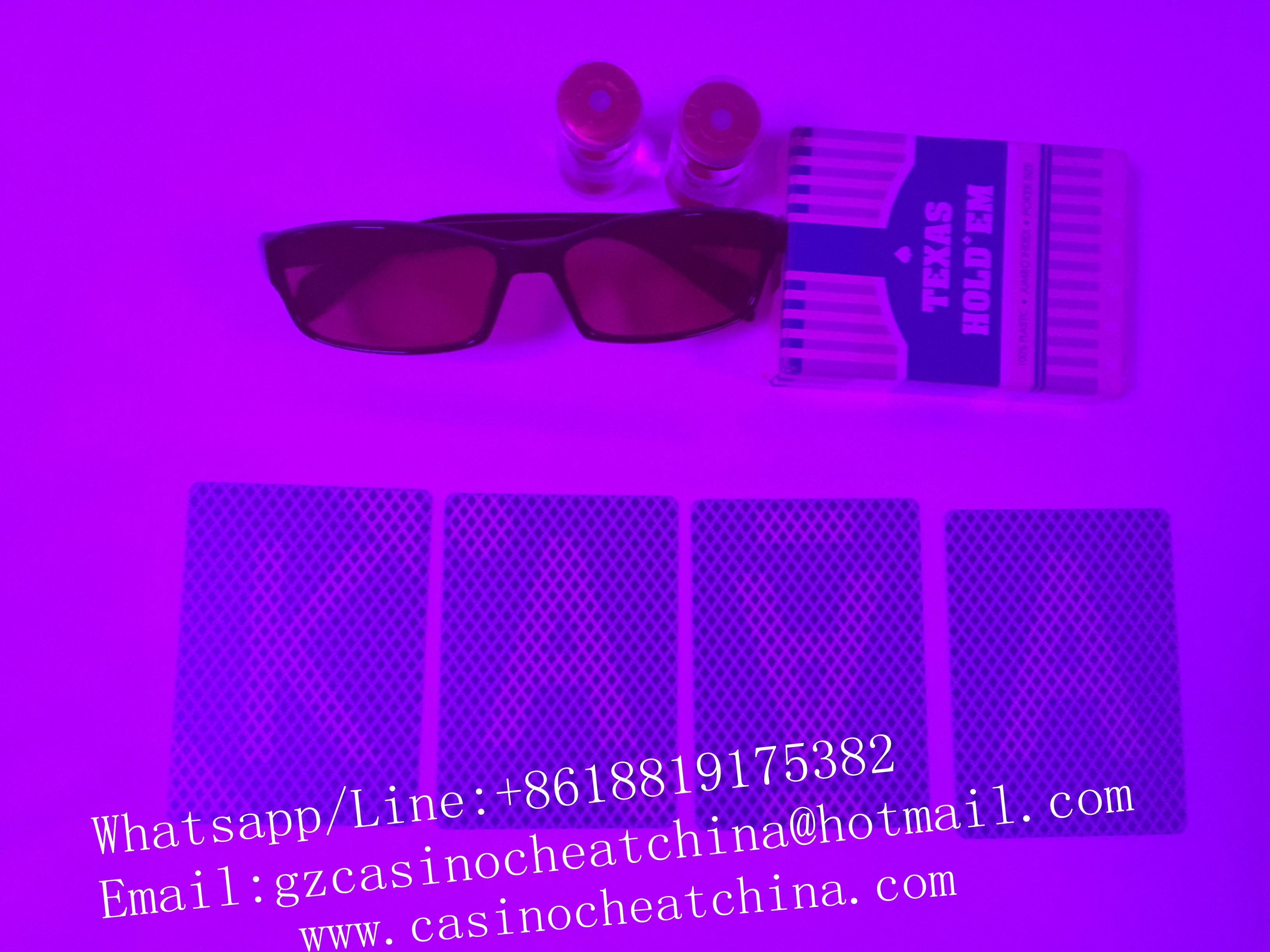 Blue Texas Hold'em marked playing cards for poker cheat/invisible ink/gamble cheat/uv perspective glasses/cheat in casino/magic trick