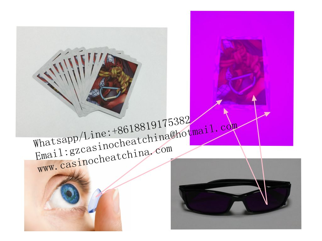 India paper luminous marked playing cards for cards cheat/contact lenses/invisible ink/omaha texas poker cheating device/magic trick/casino cheat