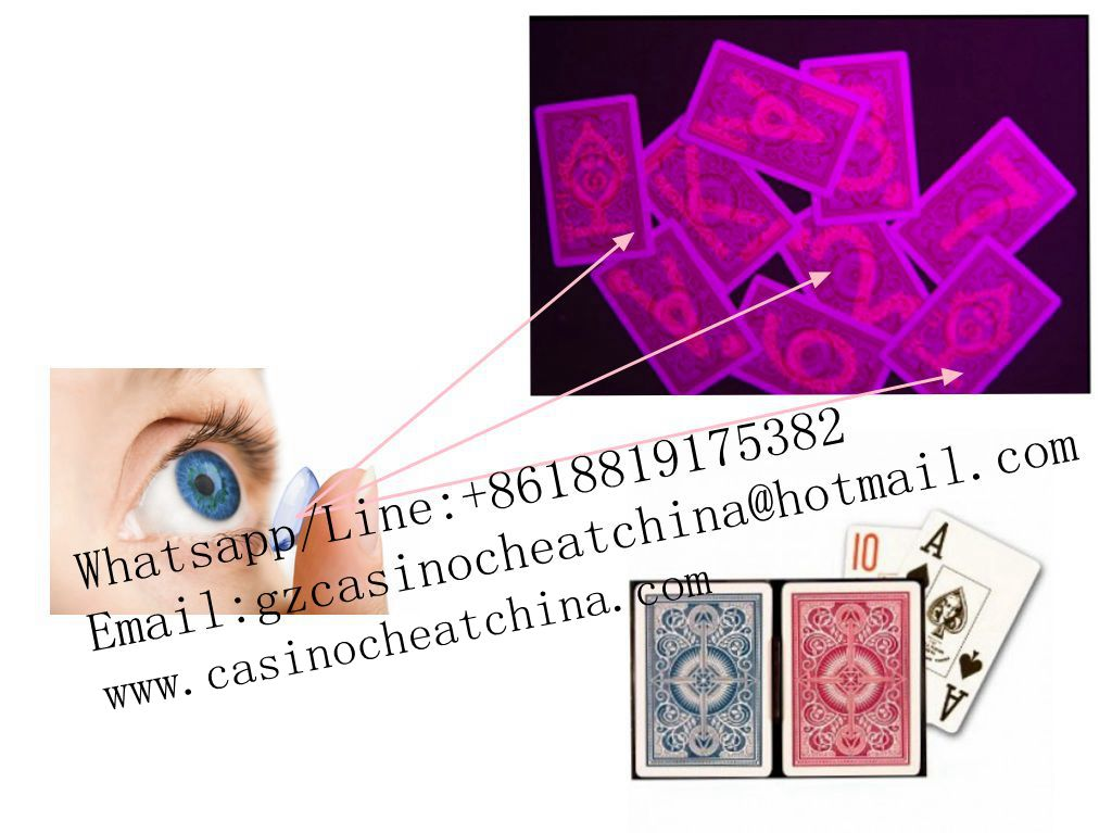 Red KEM plastic marked playing cards for uv contact lenses/invisible ink/omaha texas poker game cheat/cheat  in casino/gamble cheat