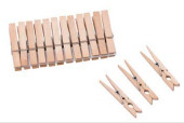 74mm wooden clothes pegs / washing clips 660740