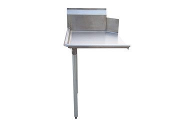 Stainless Steel Clean Dish Table with 10 backsplash, meet with NSF standard