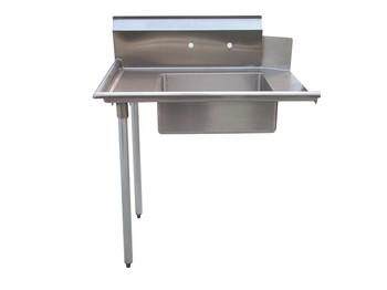 Stainless Steel Soiled Dish Table with 10 backsplash and 4faucet holes, meet with NSF standard
